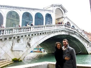 The biggest bridge in Venice on the Grand Canal